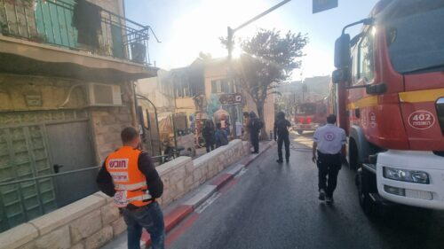 שריפה במבנה מגורים רחוב ברעם ירושלים