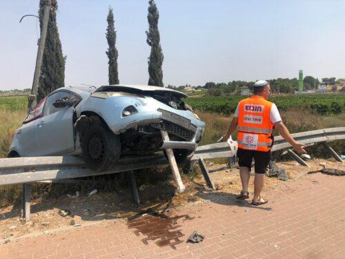 תאונת דרכים עצמית כביש 3