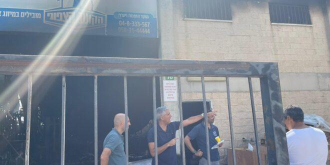 חשד לפרוטקשן בצפון: בית עסק עלה באש בחצור הגלילית