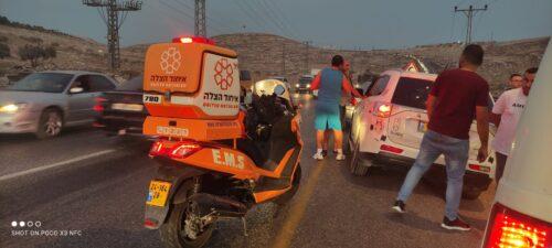 תאונת דרכים בין חיזמא לענתות בירושלים
