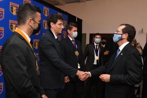 נשיא המדינה בטקס פרסי מדע