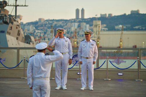 טקס חילופי מפקדי בסיס חיפה של חיל הים