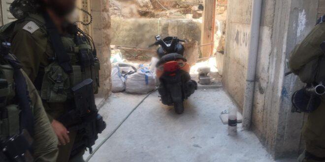 """אופנוע של איחוד הצלה נגנב לחברון, והוחזר היום על ידי צה""""ל"""