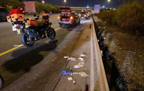 תאונת דרכים בכביש 1