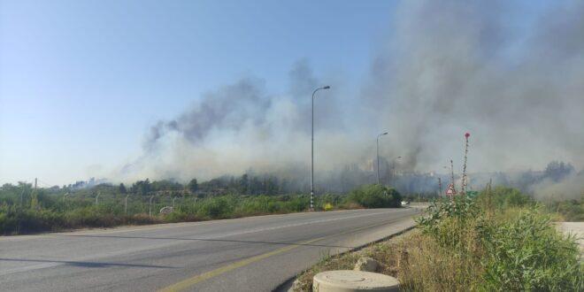 שריפה גדולה מתפשטת סמוך לישוב בית אל בשומרון