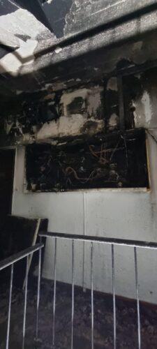 שריפה בבניין מגורים בבני ברק