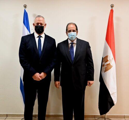 גנץ נפגש עם ראש המודיעין המצרי