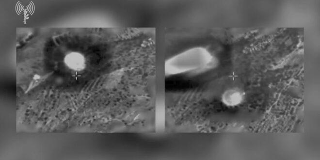 """תיעוד: צה""""ל תקף באש במרחב גבול לבנון -בפעם השלישית"""