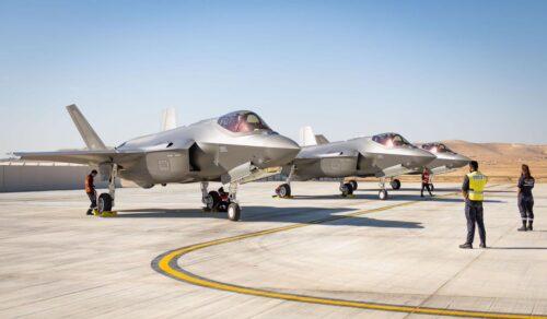 היום נחתו שלושה מטוסי ״אדיר״ (F35I) נוספים בבסיס חיל האוויר ...