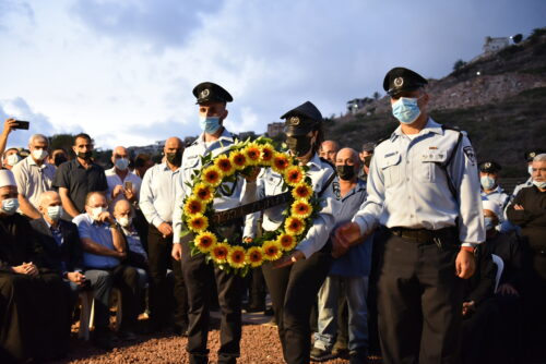 """הובא למנוחות רס״ר חוסאם סג׳ייר ז""""ל שנרצח באירוע הדריסה בנהריה"""