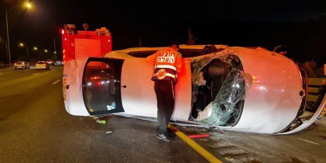 תאונת דרכים בכביש 6 מחלף בן שמן