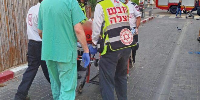 בן 54 נפל מגובה בתל אביב