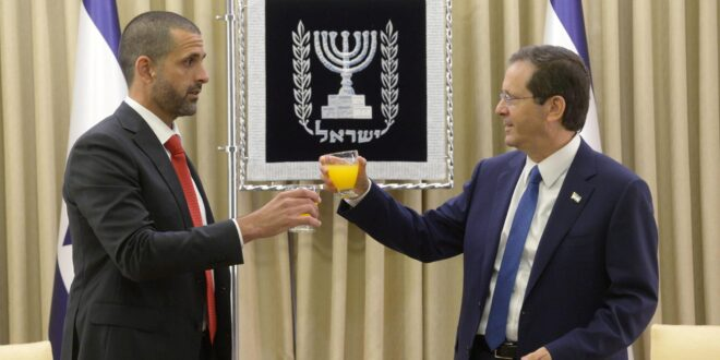 שנה אחרי 'הסכמי אברהם': שגריר בחריין בישראל הגיש את כתב ההאמנה לנשיא הרצוג