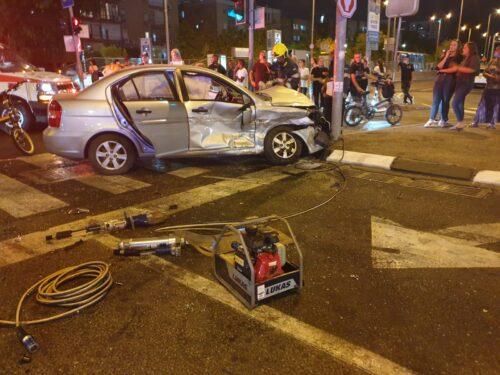 תאונת דרכים בקריית ביאליק