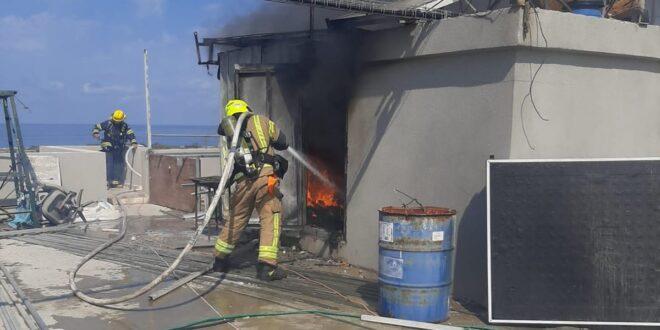 שריפה פרצה במבנה מגורים בג'סר א זרקא, אין נפגעים
