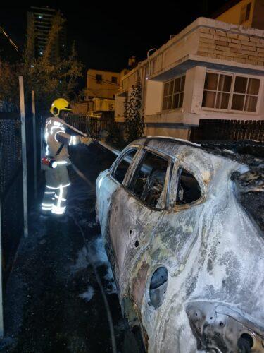 רכב עלה באש בטירת הכרמל