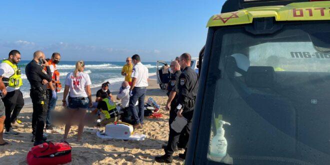 גבר בן 40 שטבע בים באשדוד הובהל לאסותא לאחר החייאה, מצבו קשה