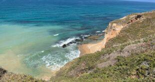 נפילת מצוק בחופי הרצליה, חוף אפולוניה