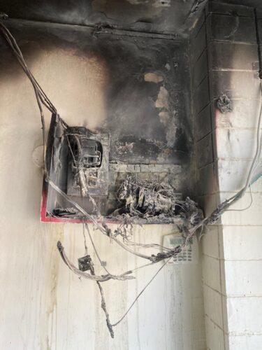 שריפה בחנות אורטופדיה בחדרה