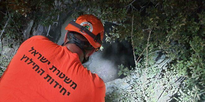 הסתיים בשלום חילוץ החייל שנפל לבור בעומק 20 מטרים באזור נחושה