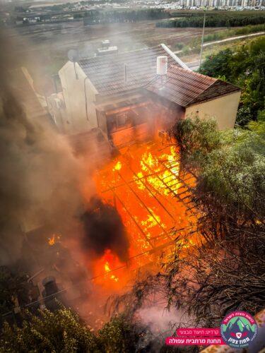 שתי שריפות באזור עפולה