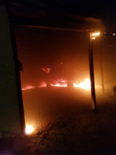 שריפת פרצה בבית מדרש במצפה זיו בדרום הר חברון