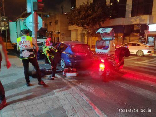 תאונת דרכים בתל אביב