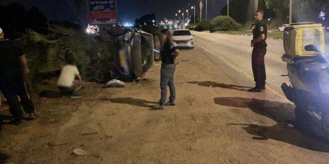 חשד: תושב השטחים גנב רכב ולאחר שזיהה שני אנשים בתוכו התעמת איתם ועשה תאונה