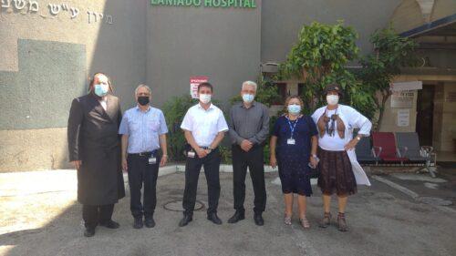 ממונה הקורונה פרופסור סלמאן זרקא סייר הבוקר בבית החולים לניאדו בנתניה