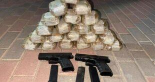 """סוכלה הברחת אקדחים וסמים בגבול הלבנון:  תצפיות צה""""ל זיהו אמש..."""