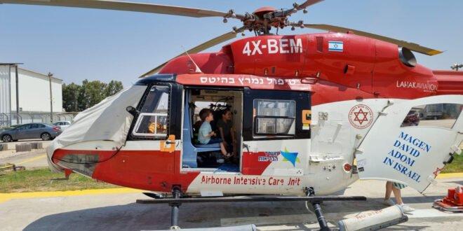"""מהתקף אסטמה לסיור במסוק של מגן דוד אדום: """"זו הייתה חוויה מיוחדת מאוד"""""""
