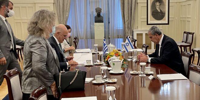 """יו""""ר הכנסת נפגש עם שר החוץ היווני בכנס יושבי ראש הפרלמנטים באירופה"""