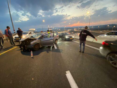 תאונת דרכים בצומת ישי שלושה נפצעו