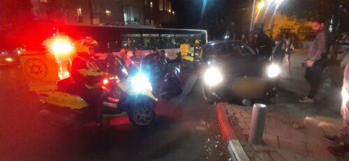 תאונה של אם ותינוקת בתל אביב