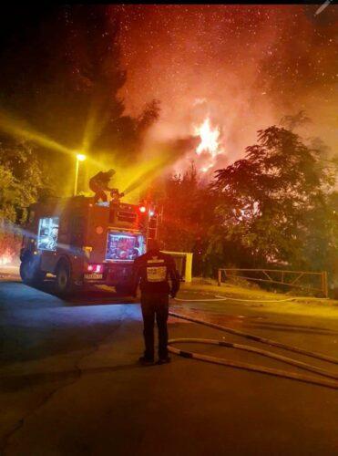 שריפת חורש במבשרת ציון גרמה לפינוי בתים באזור