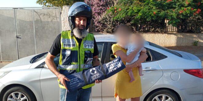 נתניה: פעוט כבן חצי שנה ננעל בשגגה ברכב וחולץ בשלום