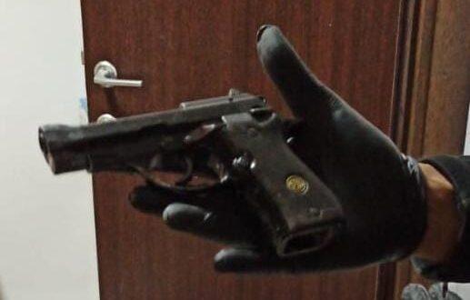 נעצר תושב באר שבע בן 28 כשברשותו אקדח וחומרים החשודים כסמים מסוכנים