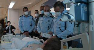 """המפכ""""ל ביקר את הלוחם שנפצע בפיגוע הדריסה בקלנדיה"""