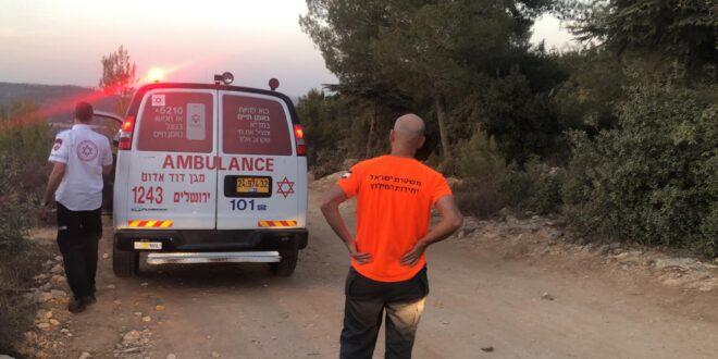 """בן 12 פונה לבי""""ח לאחר שנפל במהלך טיול נוער בהרי ירושלים, מצבו בינוני"""