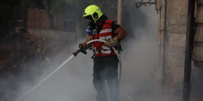 שריפת קוצים גדולה פרצה סמוך לישיבה באור יהודה