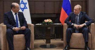 פגישת בנט ופוטין ברוסיה