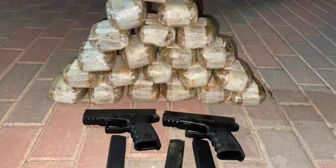 סוכלה הברחת אקדחים וסמים בגבול לבנון