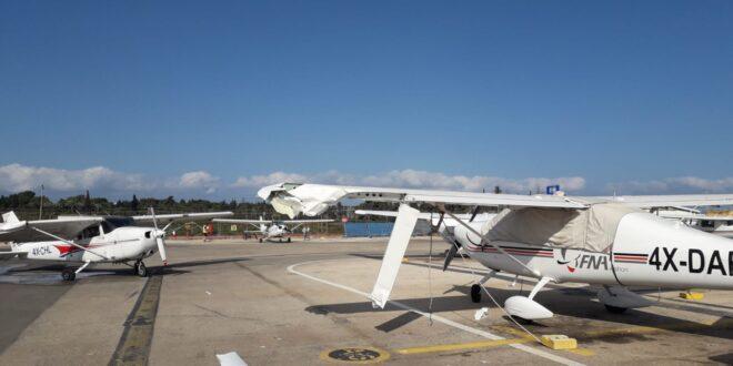 הרצליה: מטוס קל החליק מהמסלול בשדה התעופה בעיר, אין נפגעים
