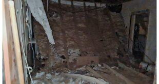 תקרה קרסה בבניין מגורים ברחוב הגאולים בבאר שבע