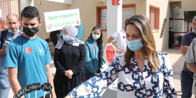 """שרת החינוך שאשא ביטון בערערה: """"המאבק למיגור האלימות והפשע – מתחיל בחינוך"""""""