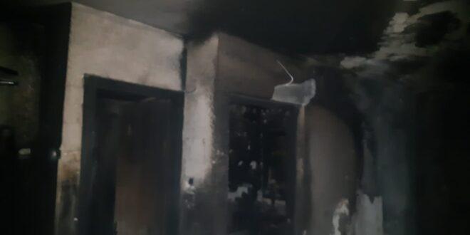 שניים נפגעו בינוני ו- 12 קל בשריפה שפרצה בבניין מגורים בראש העין