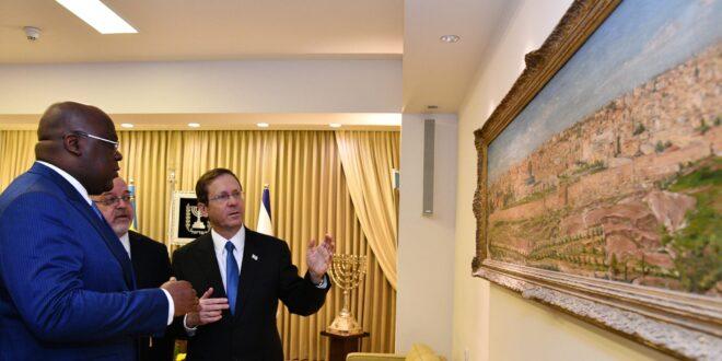 """הנשיא הרצוג נפגש עם נשיא קונגו: """"לשותפות עם עמך וארצך פוטנציאל עצום"""""""