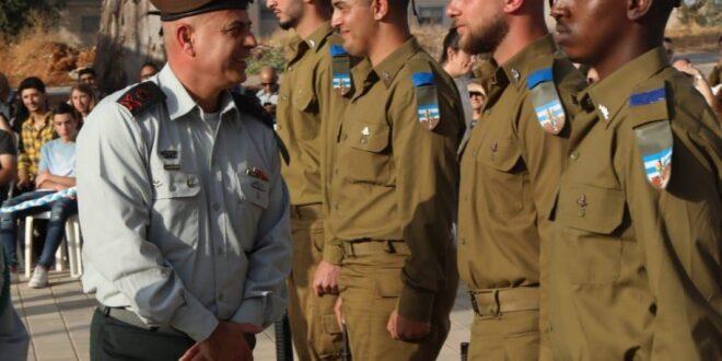 טקס סיום קורס קצינים התקיים ביחידה לתיאום פעולות הממשלה בשטחים במחנה גדעונים