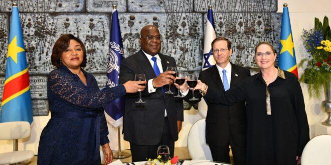 נשיא המדינה ורעייתו אירחו את נשיא הרפובליקה הדמוקרטית של קונגו ורעייתו